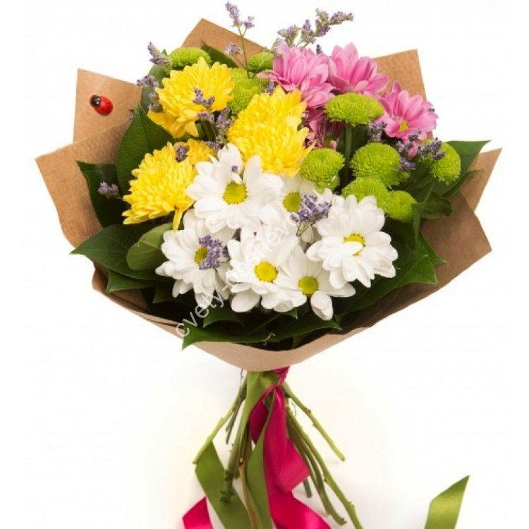 Полевых ромашек, дешевые букеты из роз и хризантем